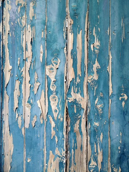 blue painted wood photo