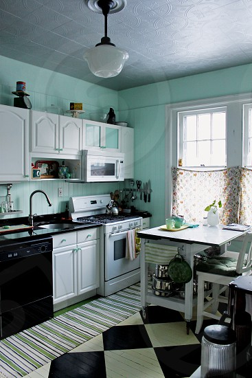 Classic vintage kitchen photo