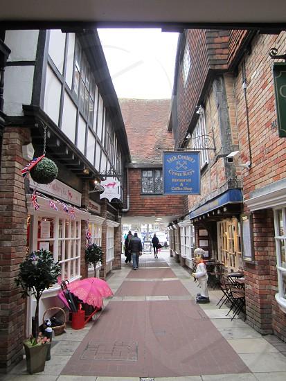 Historic English walking street photo