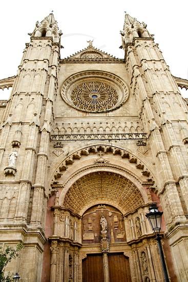 Cathedral of Majorca main door in Palma de Mallorca at Balearic islands photo