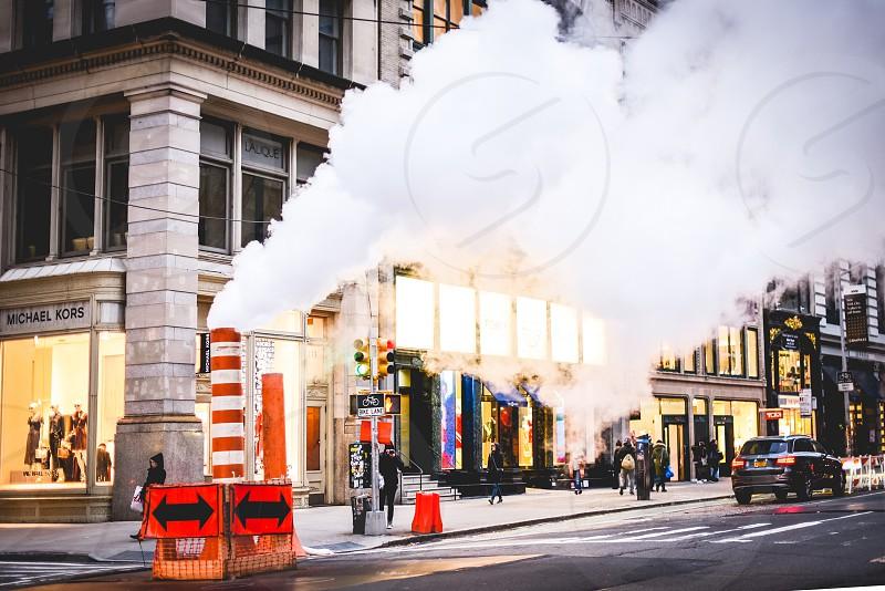 New York city steam new york city scene photo