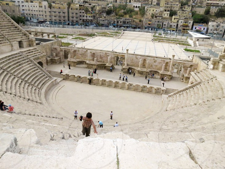 Climbing the Roman Steps  photo
