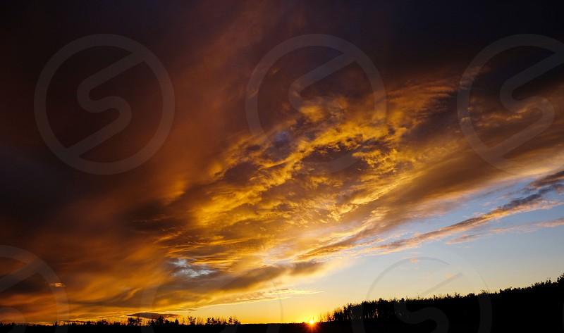 Autumn sunsets are amazing. photo