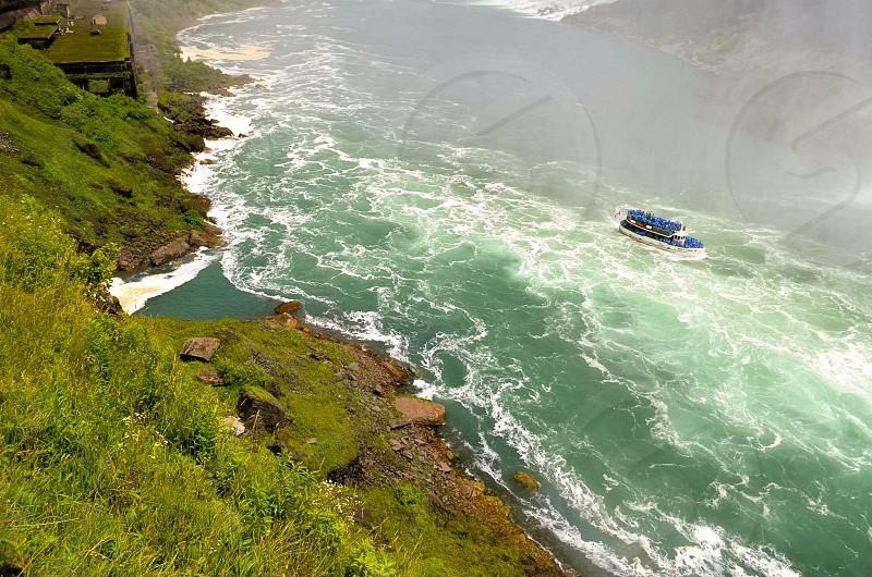 Ferry ride at Niagara Falls. photo