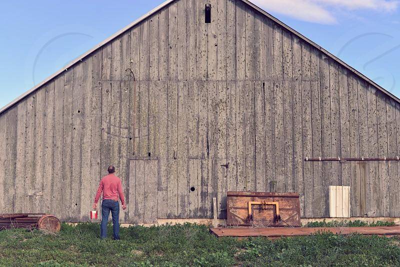 barn california farmer painter paint work photo