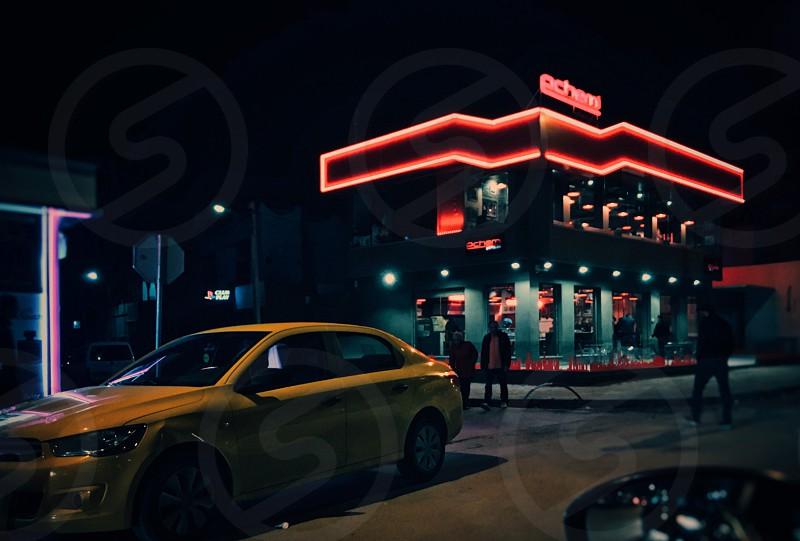 Streetlightnightredtunisia photo