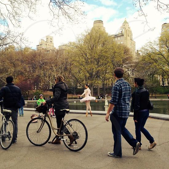 Dancer in Central Park. photo