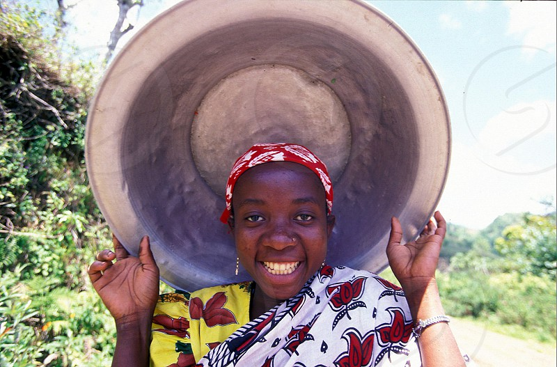 a women in the city of Moutsamudu on the Island of Anjouan on the Comoros Ilands in the Indian Ocean in Africa.    photo