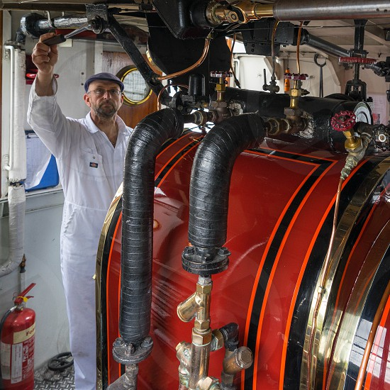 Boiler Room of the Steam Yacht Gondola on Coniston Water photo