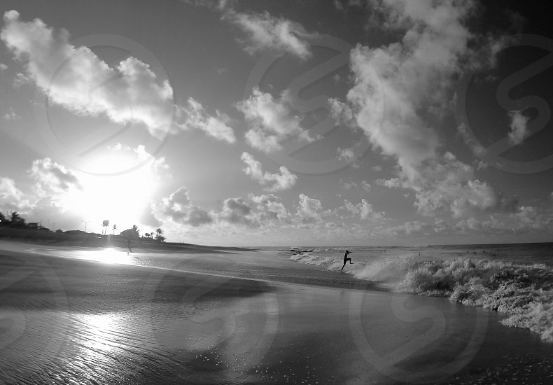Sunrise at Sandy Beach Oahu Hawai'i photo