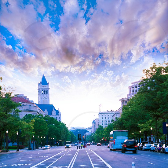 Pennsylvania Avenue sunset in Washington DC USA photo