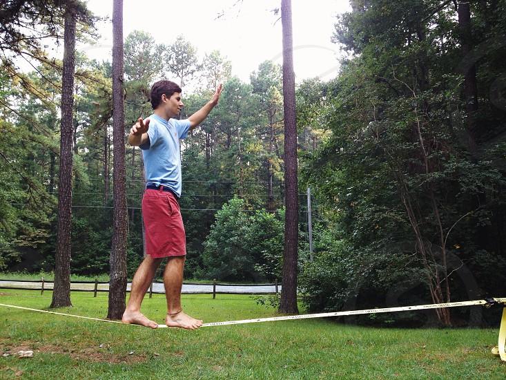 white tightrope photo