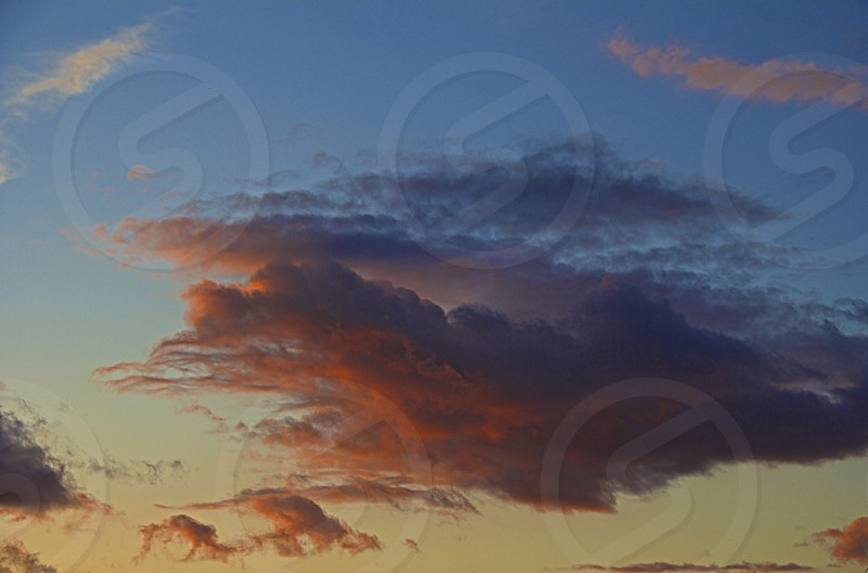 Sunset fairytale clouds  photo