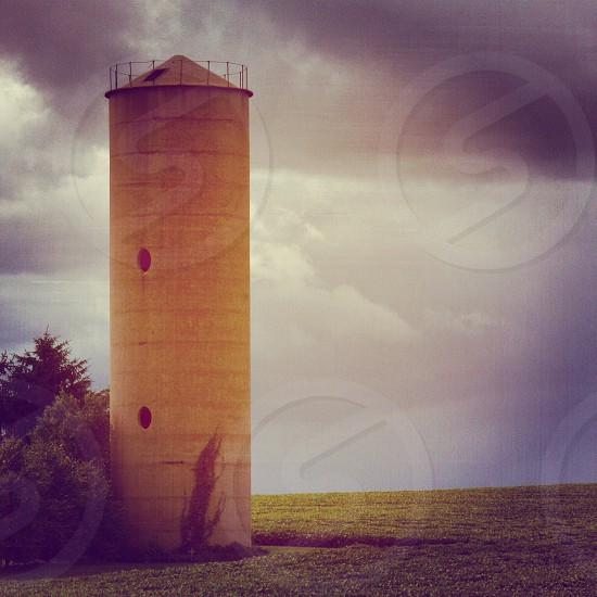 Beautiful country silo  photo