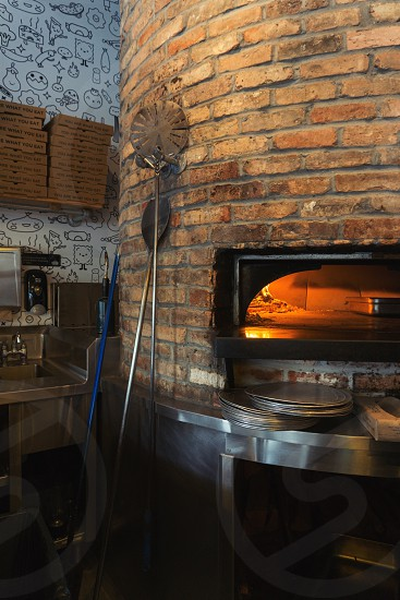 pizza chimney with stainless plate photo