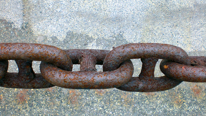 Rusted steel chains photo