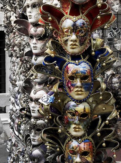 Venetian masks Venice Italy photo