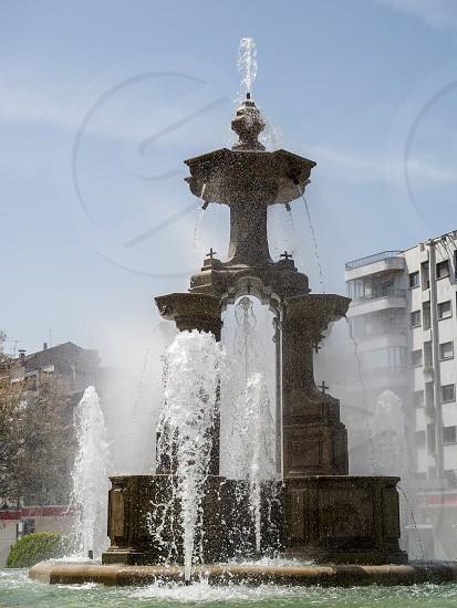 GRANADA ANDALUCIA/SPAIN - MAY 7 : Batallas Fountain in Granada Spain on May 7 2014 photo