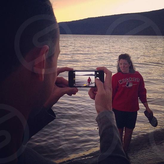 At the lake  photo