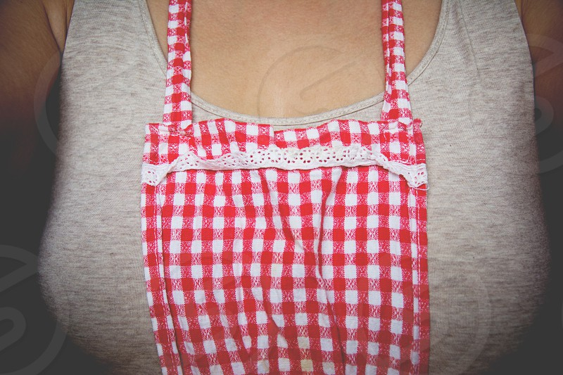 Woman in apron retro feeling. photo
