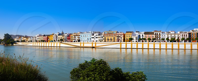 Triana barrio of Seville panoramic Andalusia Sevilla Spain photo