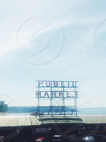 public market establishment signage photo