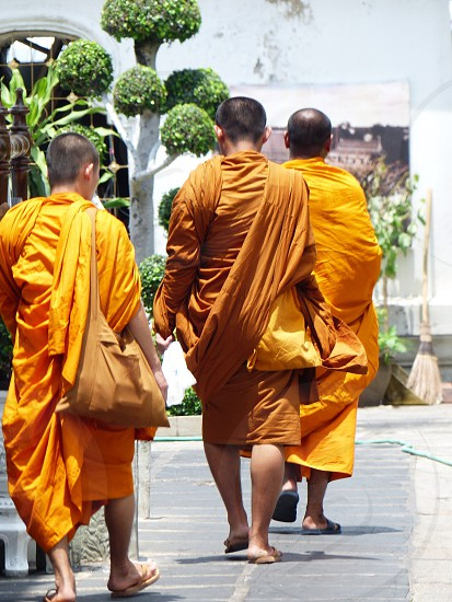 Bangkok budist monks photo