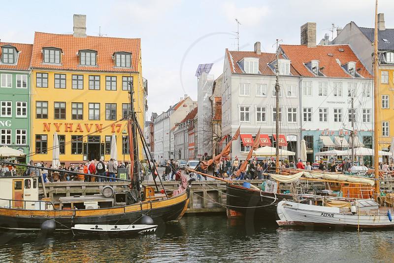 Marina  ships harbor masts boats Copenhagen  photo