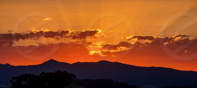 Sunset in Canberra ACT Australia photo