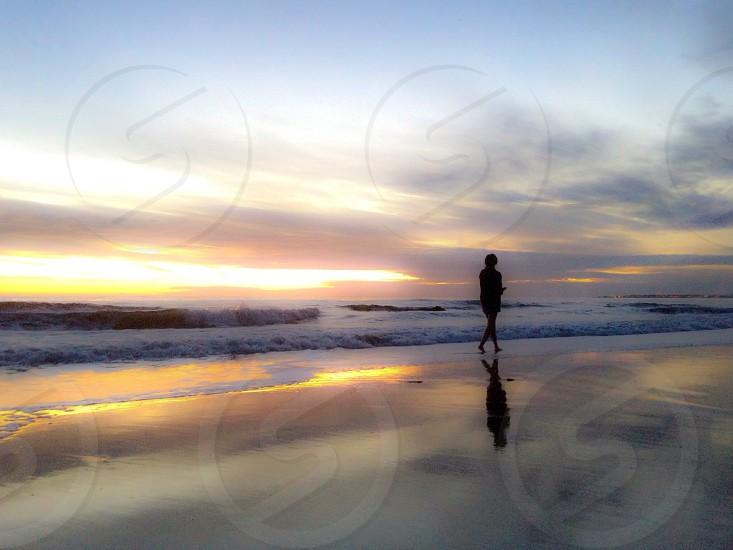 Beach SoCal California Malibu Santa Barbara nature walk water sunset reflection ocean photo