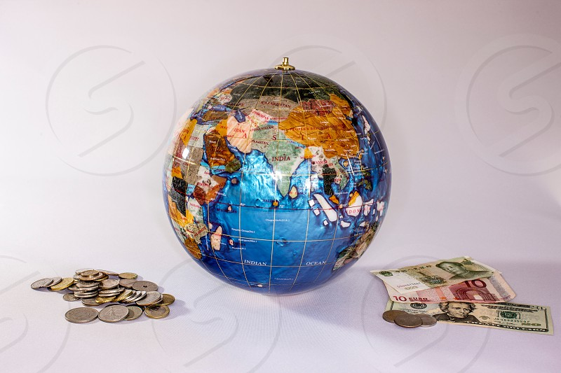 Globe and Currency photo