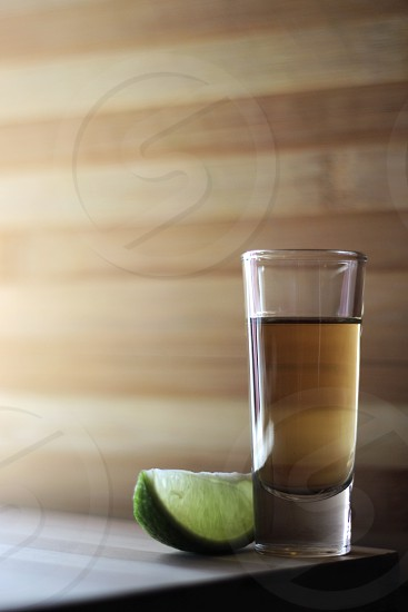 lime and drinking glass  photo