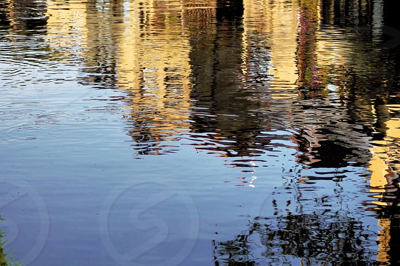 reflections in the waterwaycanalriver photo