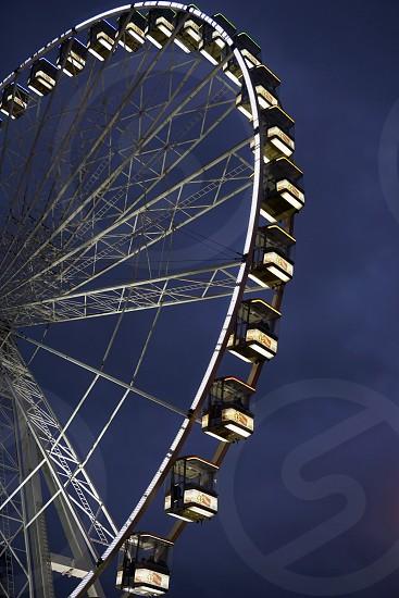 Ferris Wheel at Night Close-Up                                photo