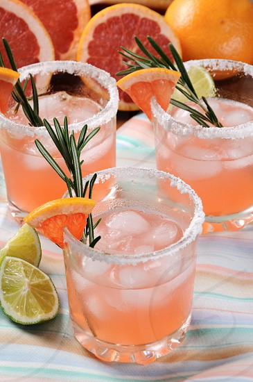 This magnificent cocktail of fresh pink Palomas will change the way you look at tequila. A festive drink is ideal for brunch parties and holidays. photo