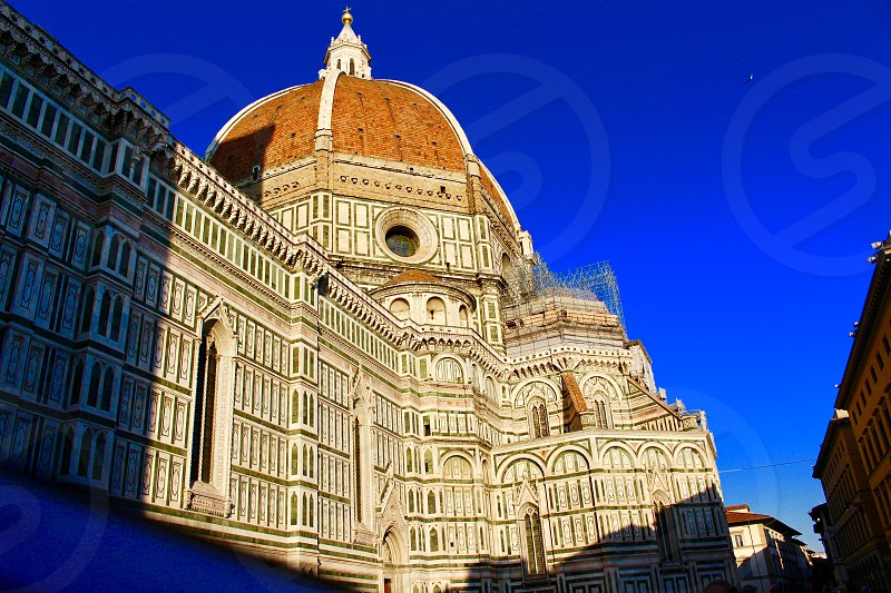 Piazza del Duomo Florence Italy famous place for tourism  city center photo