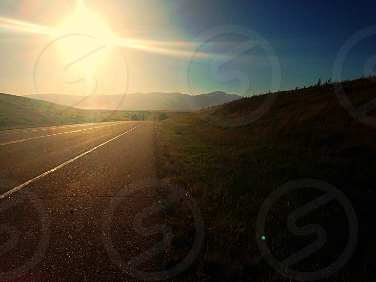 Colorado Roads with Beautiful Sunset photo
