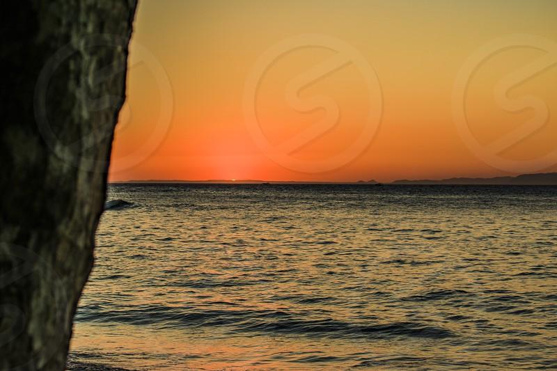 sunset beAch costa-rica photo