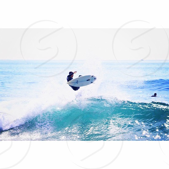 Catching a wave and getting lucky... photo