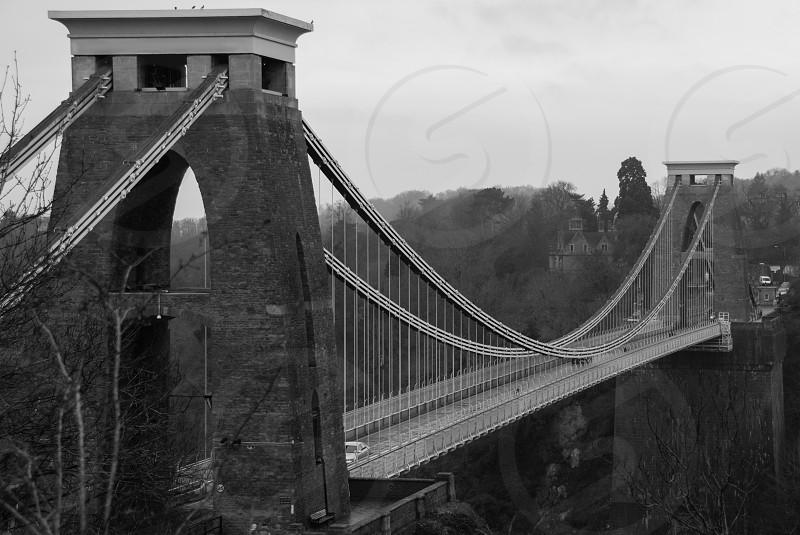 Clifton Suspension bridge over the river Avon in Bristol UK photo