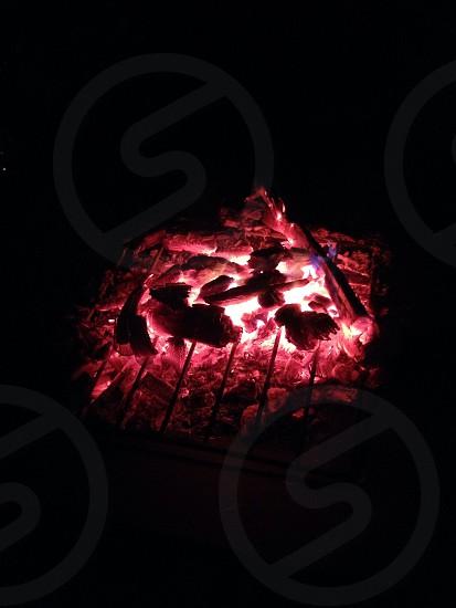 burning charcoal photo