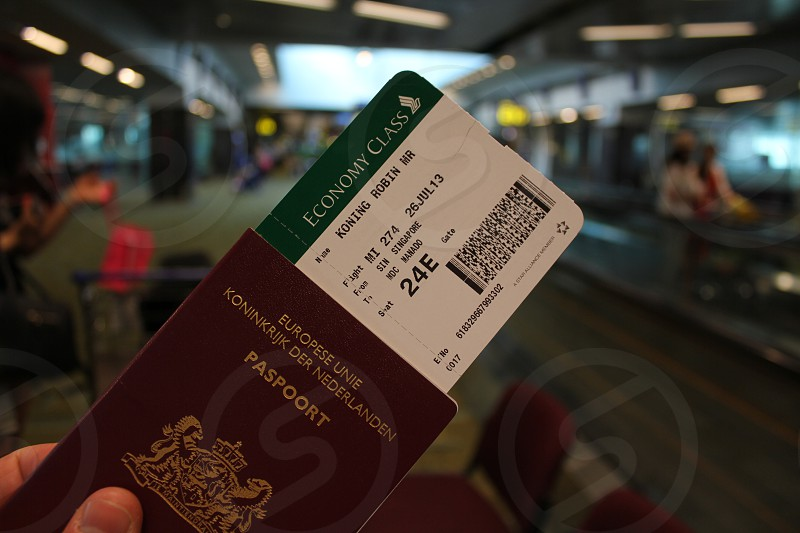 Pasport ready for check in at airport Singapore. Is my pasport and i give permission photo
