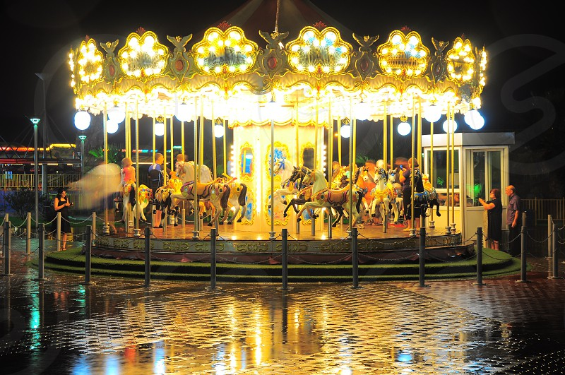 view of a carnival carousel photo