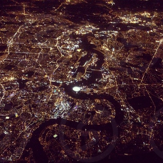 London from 20000ft photo