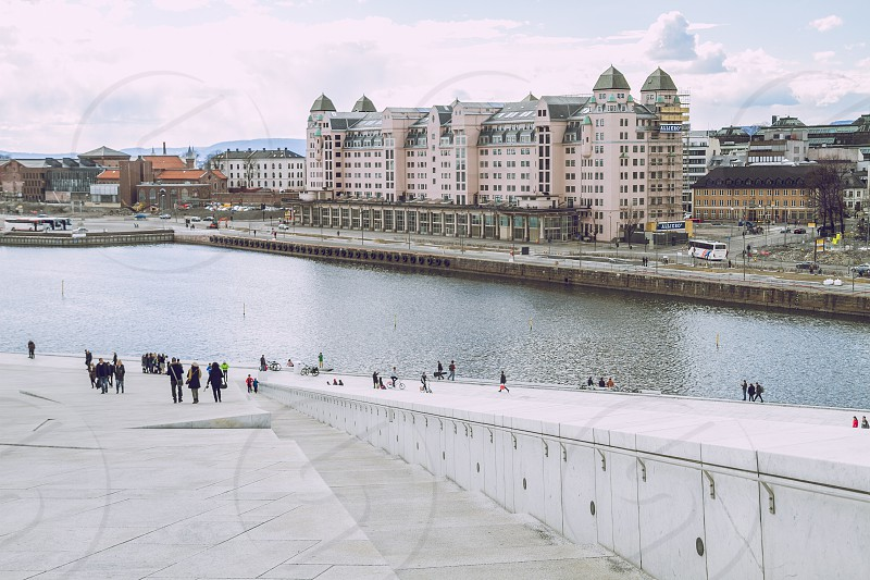 Oslo Opera House roof. photo