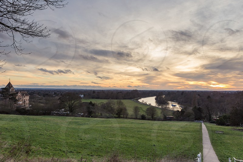 Top of Richmond Hill overlooking the Petersham Hotel photo