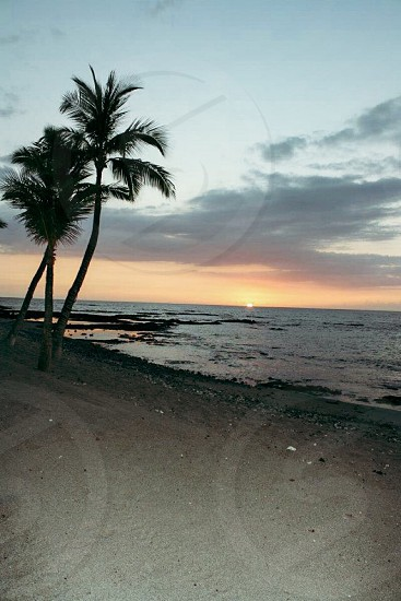 Kona. Sunset Hawaii travel beautiful beach photography photo