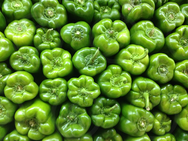 Capsicum green healthy vitamin crunchy  photo