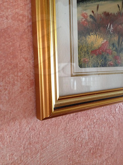 brown framed wall photo photo