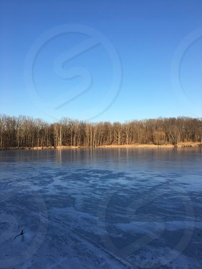 Frozen pond  photo